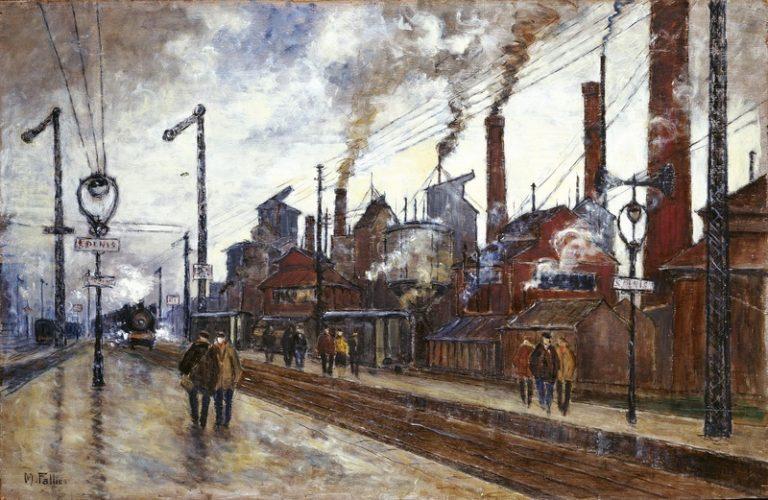 Maurice Falliès Gare et usines à Saint-Denis